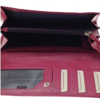 Bisoux|Mala Leather Best Friends Sausage Dog Dachshund Flap Over Purse in Pink